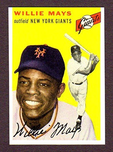 Willie Mays 1954 Topps Baseball Reprint Card W/ Original Back (New York) (San Francisco)  I have team sets, superstar cards, rookie cards & reprint cards, of your favorite team and players from the 1900's thru today available  I have Team Sets from 1972- 2014 of your favorite team***Baseball, Football, Basketball & Hockey**  Willie Mays 1954 Topps Baseball Reprint Card W/ Original Back  I ship within 24 hours  See all my Amazon Sportscard Listings @ www.amazon.com/shops/pjclark
