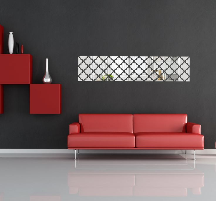 Dekoračné zrkadlo v tvare obdĺžnika