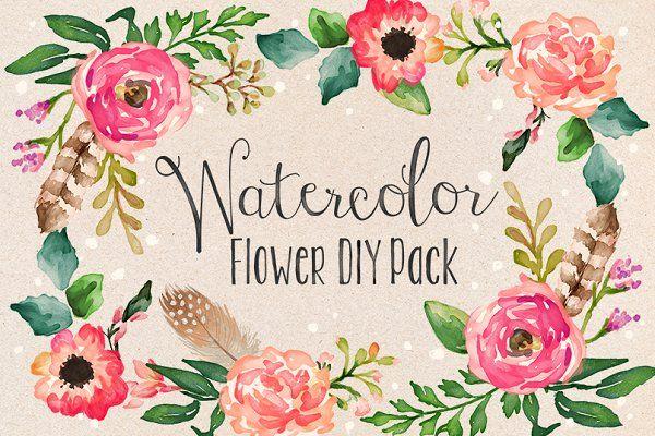 50% Off • Watercolor Bundle - Illustrations