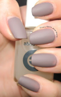 Essie Merino Cool with Essie Matte About You top coat