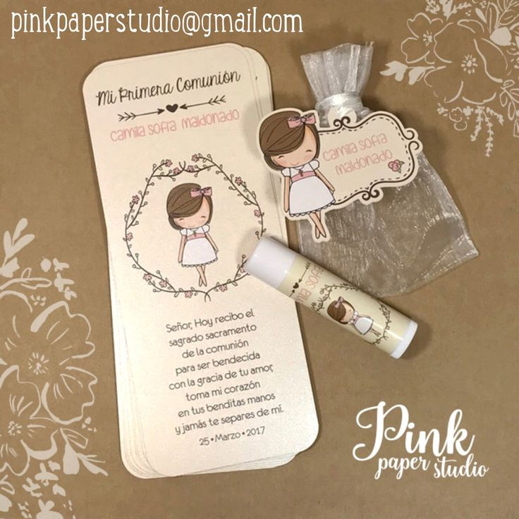 First Communion Bookmarks  Pinkpaperstudio@gmail.com