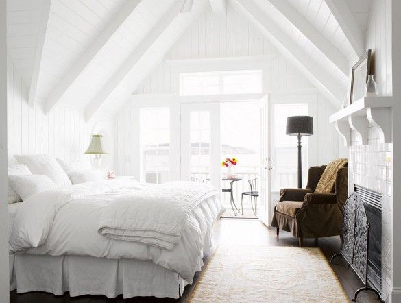 The Most Stylish Rooms Where All White Rules Attic Bedroom Designsattic