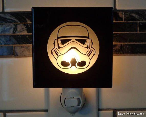 SAMPLE Sell-Off    STORM TROOPER Star Wars Etched Glass Black