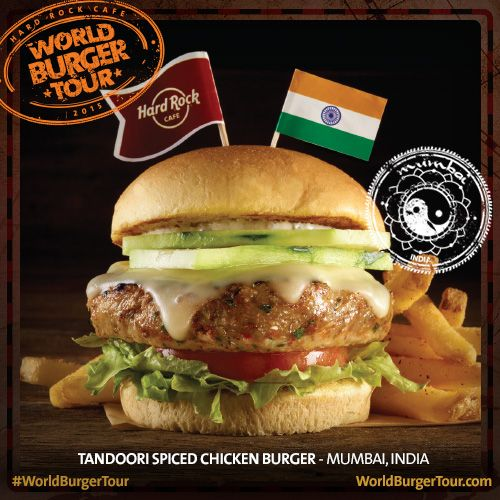 Tandoori Spiced Chicken Burger - MUMBAI, ÍNDIA #WorldBurgerTour