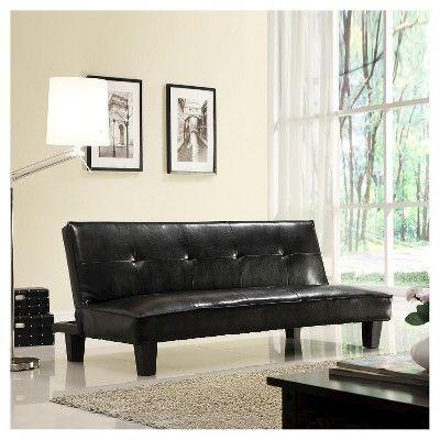 Dennet Faux Leather Futon Black - Homelegance