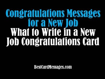 New Job Card Messages: Best Wishes Sayings for Greeting Cards - Best Card Messages