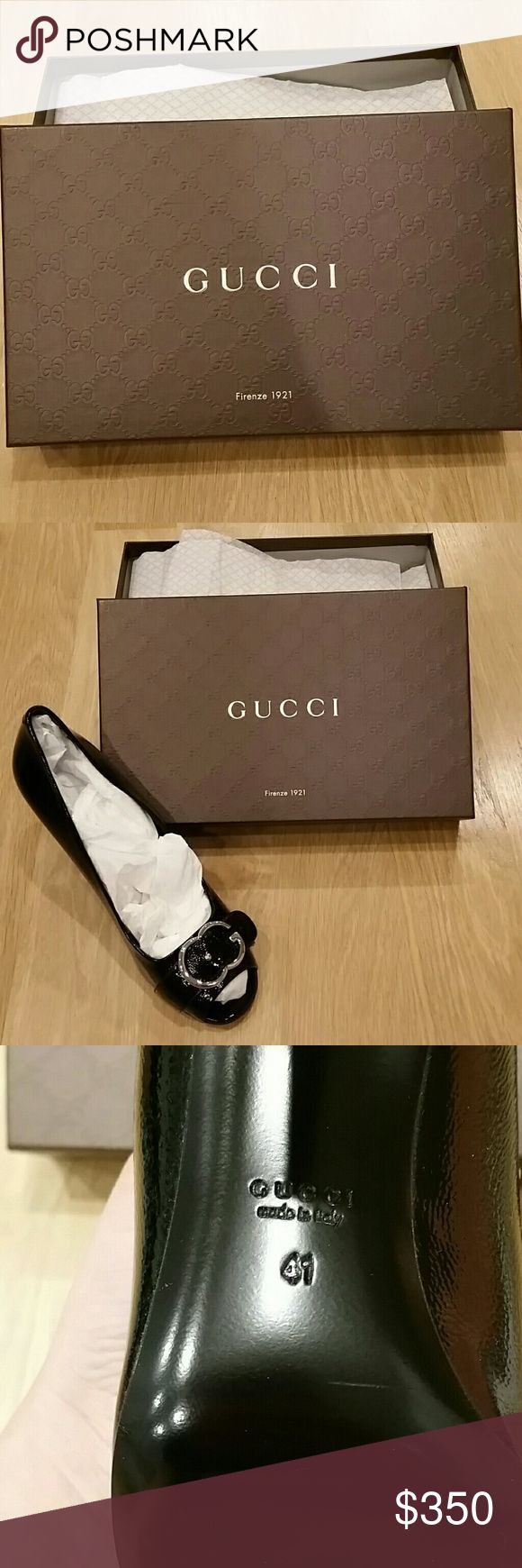 Authentic Gucci patent leather heels Brand new in box, only tried them on in the house but too scared to venture outside in them!   price is firm as I am not even sure I want to part with these. Any questions please ask Gucci Shoes Heels