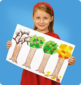 Season Trees from Lakeshore Learning: This creative craft shows children the four seasons in the life of a treehands on!