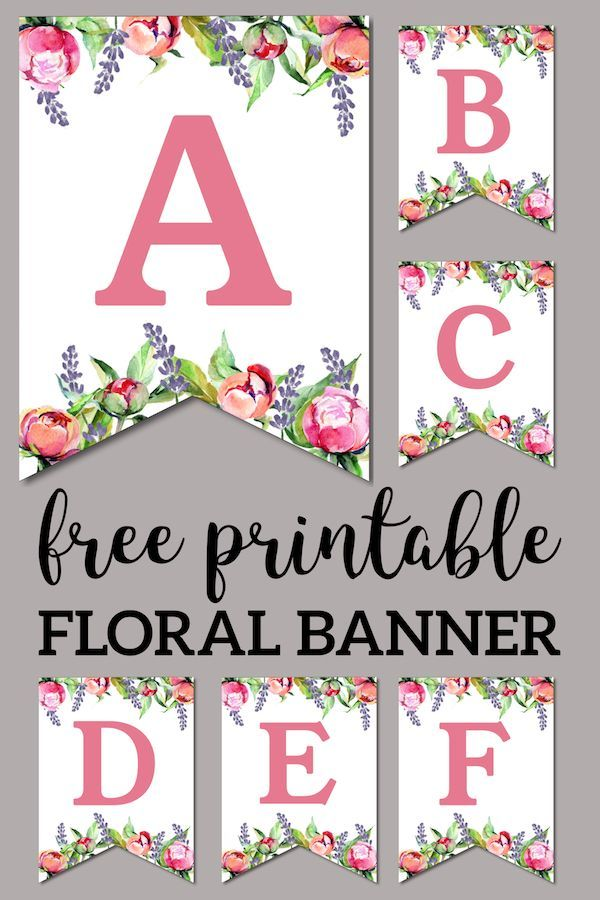 picture relating to Free Printable Alphabet Letters for Banners identify Floral Cost-free Printable Alphabet Letters Banner Attractive