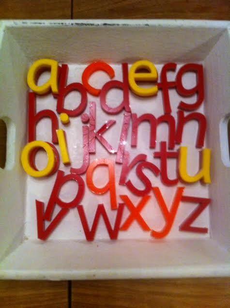 Zelf gemaakt, mijn eerste letters. Er volgen meer. Info:post@jufgerdien.nl