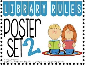 Library Resource * Library Rules Poster Set