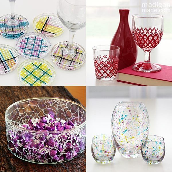 glass paint craft ideas and tips -which paint to use for which project