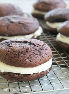 Chocolate Whoopie Pies with Marshmallow Filling • Table for Seven