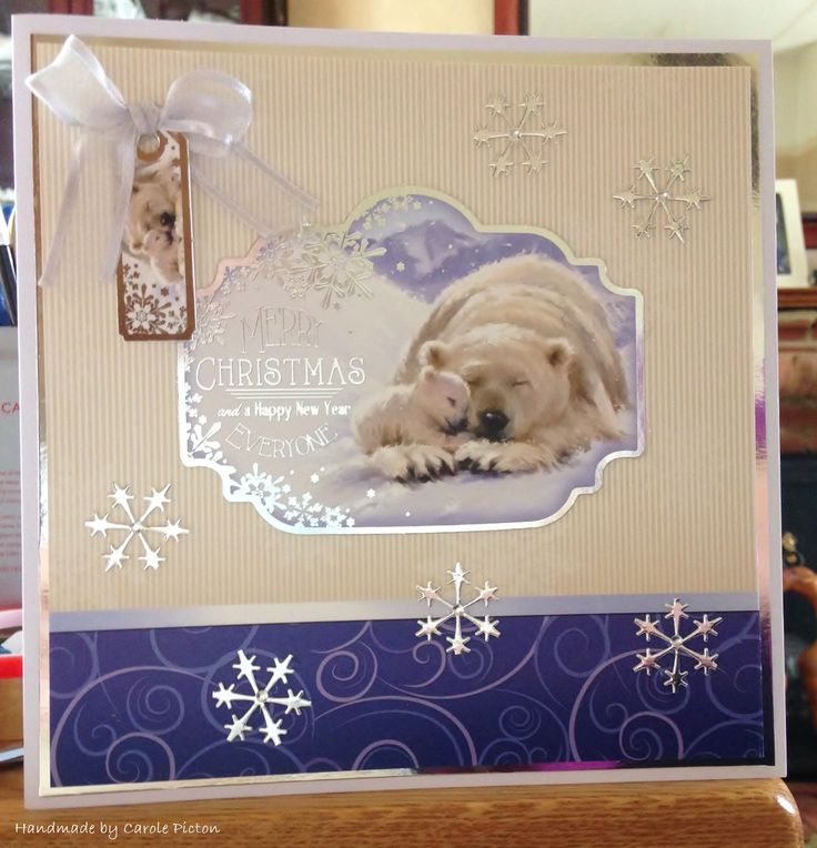 Christmas Card (85) - 8inch x 8inch - Hunkydory  'Snuggle In The Snow'
