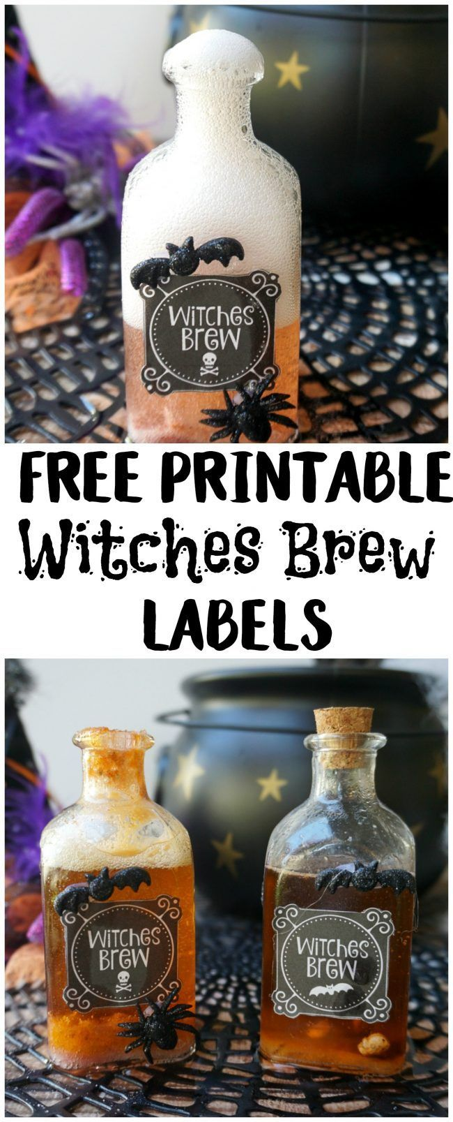 Free Printable Halloween Witches Brew Labels | Halloween ...