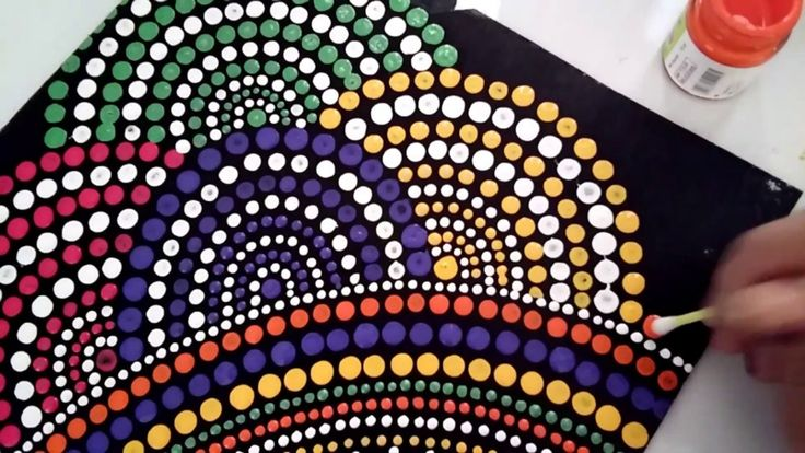 Mandala Dot Art Painting, Simple And Easy DIY