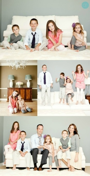 Family poses and I love these colors!