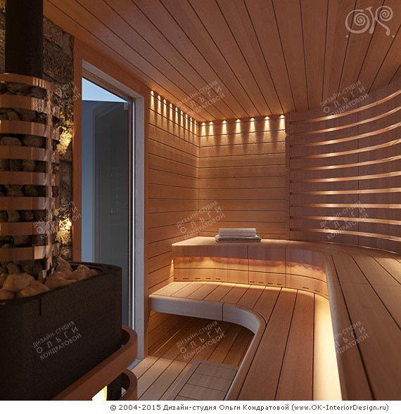 Дизайн сауны в домашнем спа частного загородного дома. Современные идеи on Дизайн интерьера квартир, фото 2015-2016 | Дизайн-студия Ольги Кондратовой http://www.ok-interiordesign.ru/wordpress/wp-content/gallery/houses_cottages-3d/dizayn-sauny.jpg