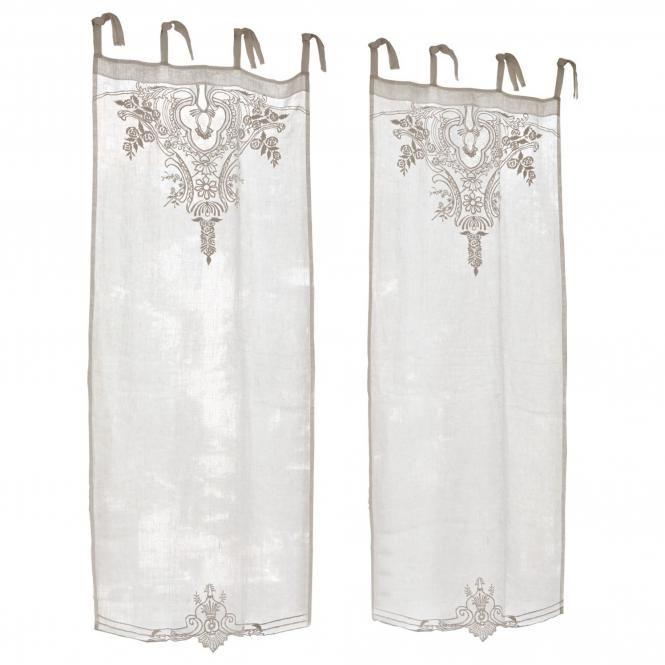 Scheibengardine gardonne linen gardinen for Scheibengardine schlafzimmer