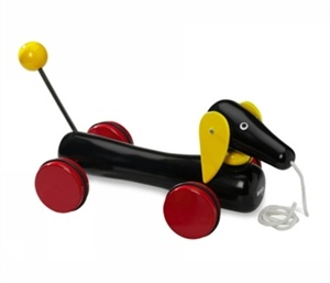 træk hund - den klassiske gravhund på hjul - XL #Brio
