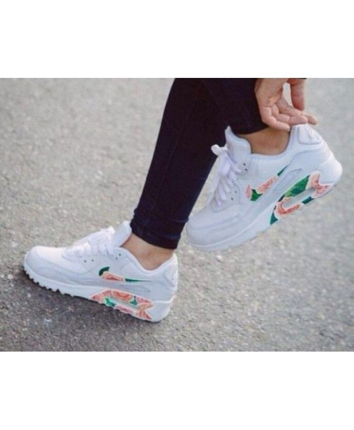 pretty nice d7336 53f3e Womens Nike Air Max 90 Custom White Floral