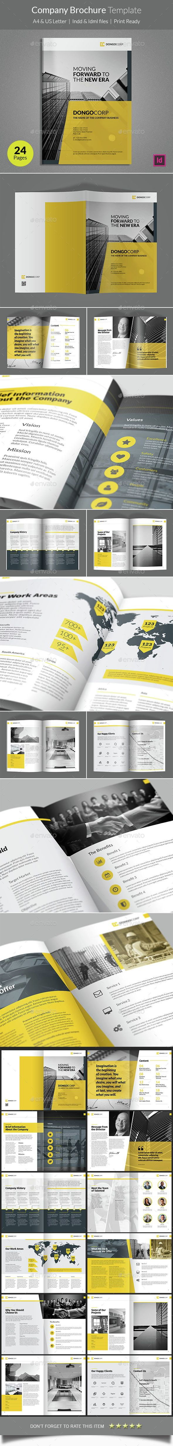 Company Brochure Template - #Corporate #Brochures | Download http://graphicriver.net/item/company-brochure-template/15143040?ref=sinzo