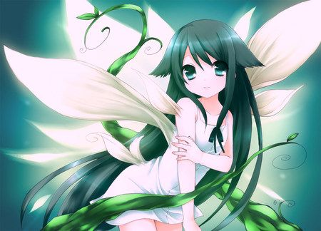 Anime Girl With Fairy Wings