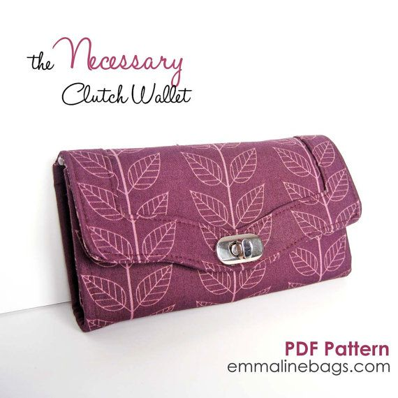 The Necessary Clutch Wallet PDF:  A Large wallet with card slots and room for your Smart Phone