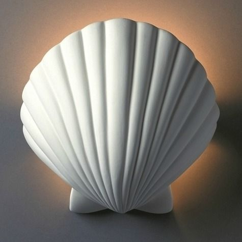 Shell Wall Sconce Lights: http://www.completely-coastal.com/2016/01/shell-wall-sconce-lights.html
