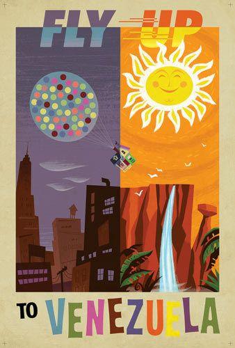 Pixar Up Retro Poster