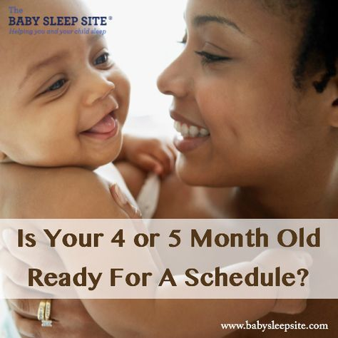 Is Your 4 or 5 Month Old Baby Ready For A Schedule? | The Baby Sleep Site - Baby Sleep Help | Toddler Sleep Help | Personalized Sleep Consulting