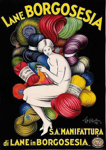 By Leonetto Cappiello, 1927, Lane Borgosesia.