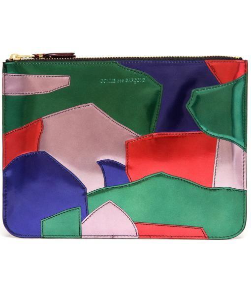 Multi patchwork leather pouch / by Comme Des Garçons