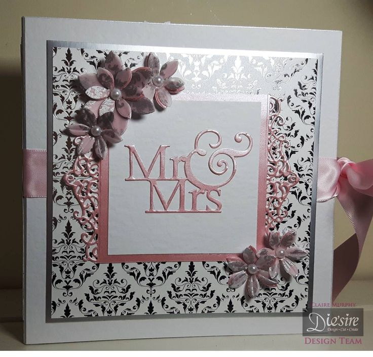 Claire Murphy – Crafter's Companion -  Sara Davies Signature Collection Together Forever – Luxury A4 Foiled Card Pad – Matt Mirror Card –  Printed Vellum – Mr & Mrs Die – Tiara Mini Edgeable – Forever In My Heart die – Graceful Swirls die –  Champagne Flute die – White Hammered card –  Centura Pearl Snow White Silver –  Collall All Purpose and 3D Gel glue – Red Liner Tape –  Floral Delight Pretty Petals die – Stick it - #crafterscompanion
