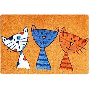 Fussmatte Katze Fussmatte Innen Rutschfest Und Waschbar