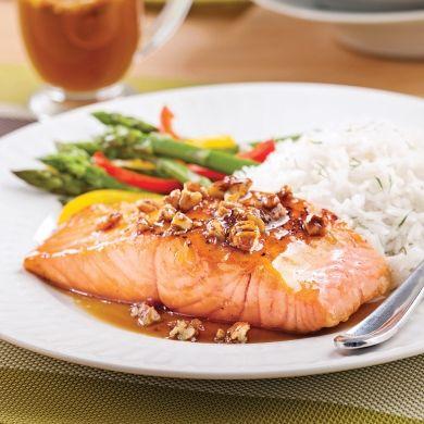 Saumon simplissime érable et pacanes - Recettes - Cuisine et nutrition - Pratico Pratique