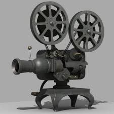 Picture of old fashioned movie projector 55
