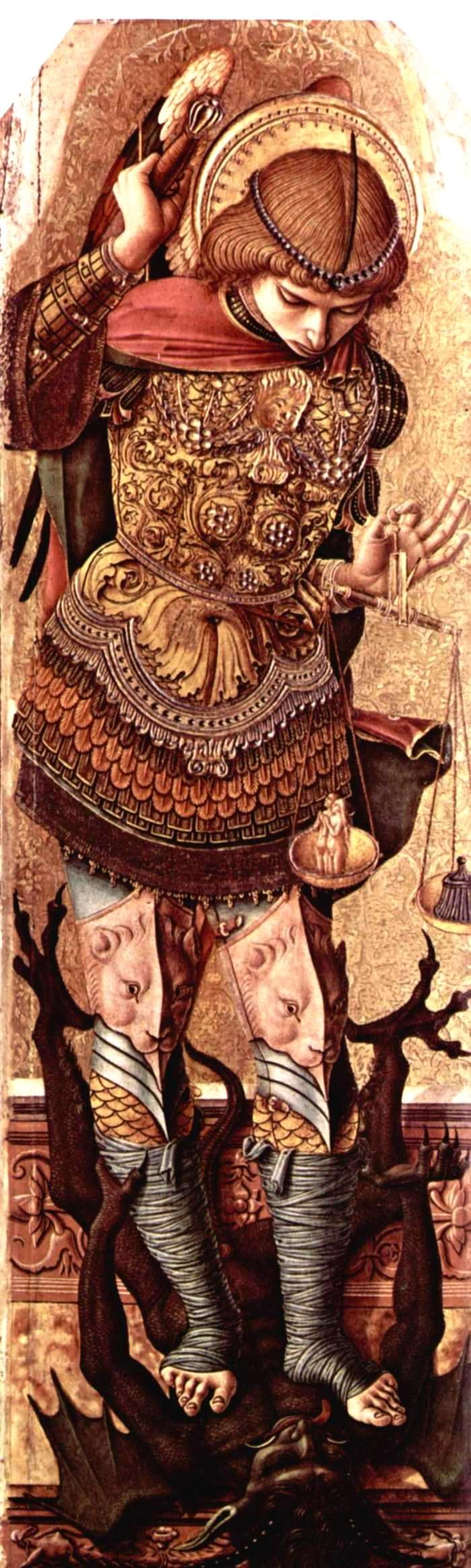 St. Michael c1476 Carlo Crivelli  Карло Кривелли - Алтарь из Асколи Пичено - Святой Михаил