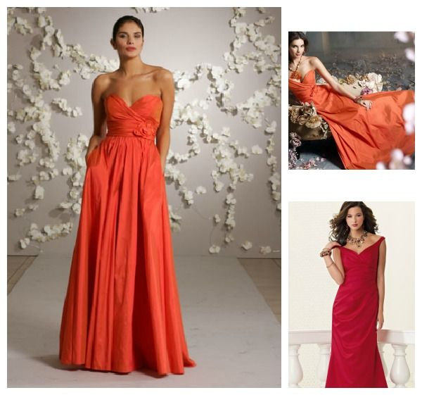 Coral Wedding Gowns: ... Some Celebrity Inspired