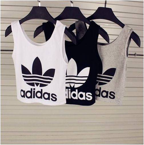 adidas crop tops style pinterest grey spring and