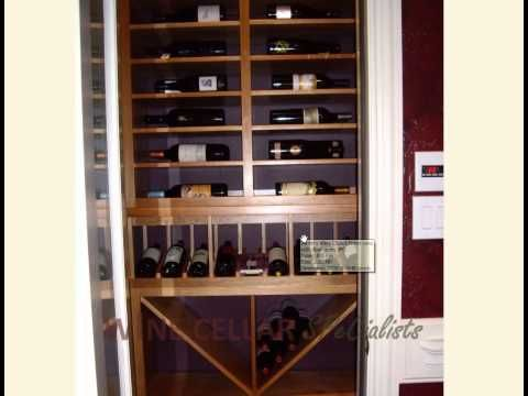 How to turn a simple closet into a stunning wine cellar for Turn closet into wine cellar