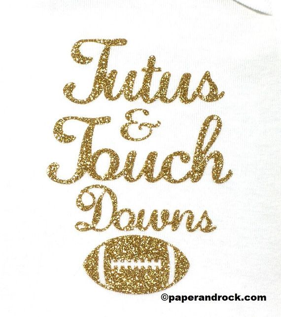 "Girls ""Tutus & Touch Downs"" Onesie"
