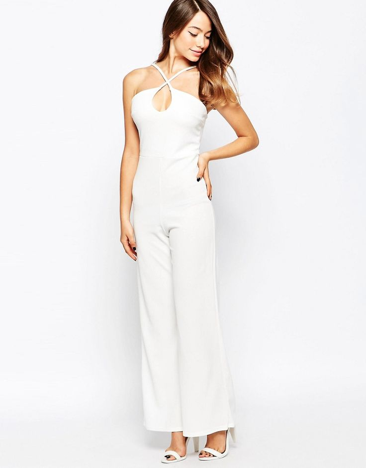 Image 1 of Daisy Street Jumpsuit With Keyhole Detail