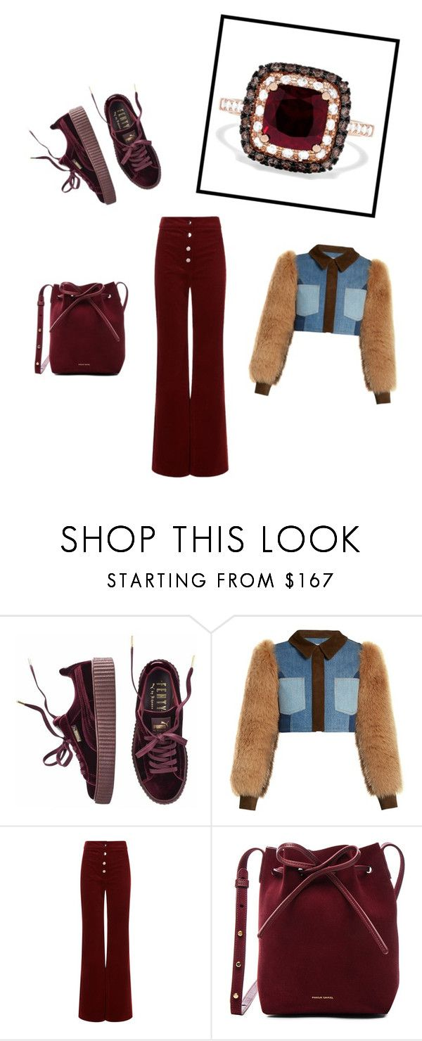 """Lady of the Ring"" by kathleensaphira ❤ liked on Polyvore featuring Puma, Sonia Rykiel, Vanessa Bruno, Mansur Gavriel and Effy Jewelry"