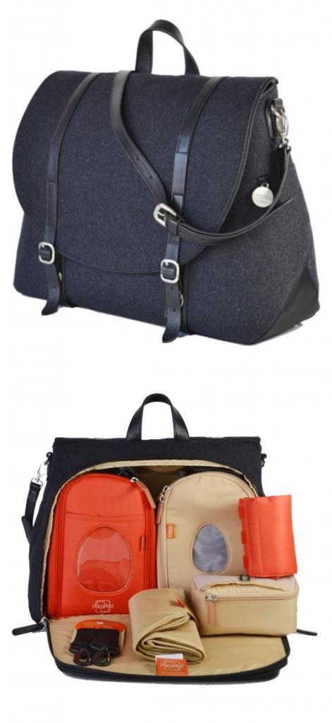 "PacaPod Moab diaper bag - features cool zipper pouch ""pods"" that make it so much easier to find everything and stay organized."
