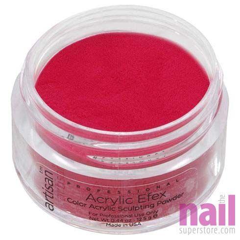 Artisan Colored Acrylic Nail Powder   Professional Size - Crimson Red