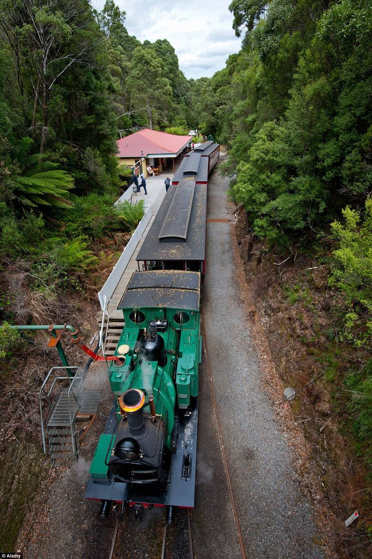 One of Tasmania's top tourist destinations is the world's steepest railway - the west coas...