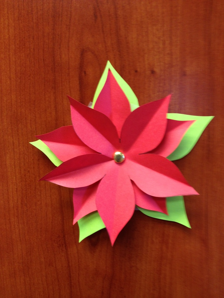 The 102 best paper flowers images on pinterest paper flowers paper poinsettia mightylinksfo