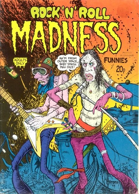 The subversive world of Rock 'N' Roll Madness Funnies: Underground comic satirizes 70s rock | Dangerous Minds