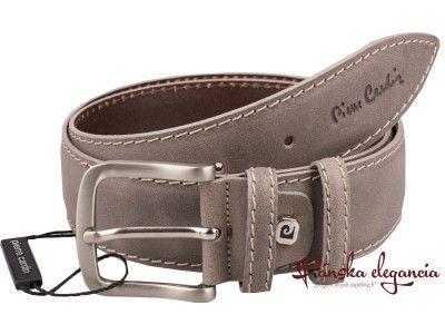 Tmavobéžový opasok Pierre Cardin #pierrecardin #belt #leather #designer #fashion #style